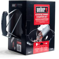 weber kit ciminiera di accensione - 17631 - 2 kg di bricchette