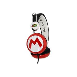 blasetti cuffie otl super mario icon red/black big kids stereo headphones - cuffie sm0654
