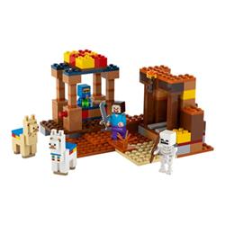 lego minecraft 21167 - il trading post - set costruzioni 21167a
