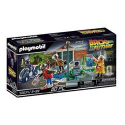 playmobil back to the future - part ii hoverboard chase - set costruzioni 70634
