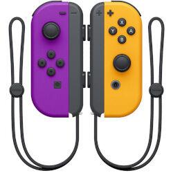 nintendo controller joy-con gamepad  switch bluetooth nero, arancione, porpora