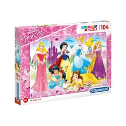 clementoni puzzle supercolor disney princess - principessa 27086