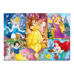 clementoni puzzle supercolor disney princess - brilliant puzzle 20140