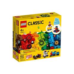 lego classic 11014 - mattoncini e ruote - set costruzioni 11014b