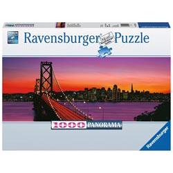 Ravensburger Puzzle Panorama - ponte della baia di san francisco-oakland di notte 15104b