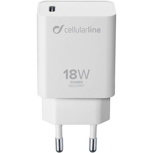 Cellular Line USB-C Charger 18W - iPhone 8 or later and iPad Pro (2018)