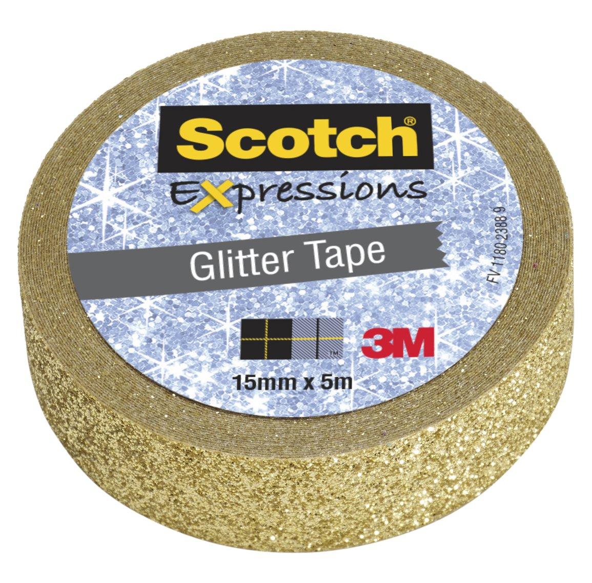 Nastro Decorativo Scotch Expressions Glitter Oro. Rotolo Singolo