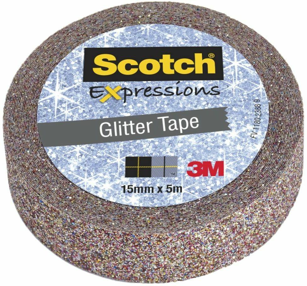 Nastro Decorativo Scotch Expressions Glitter Multicolore. Rotolo Singolo
