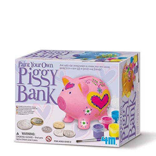Colora Il Tuo Salvadanaio A Maialino. Piggy Bank. 4M. Giochi Educativi