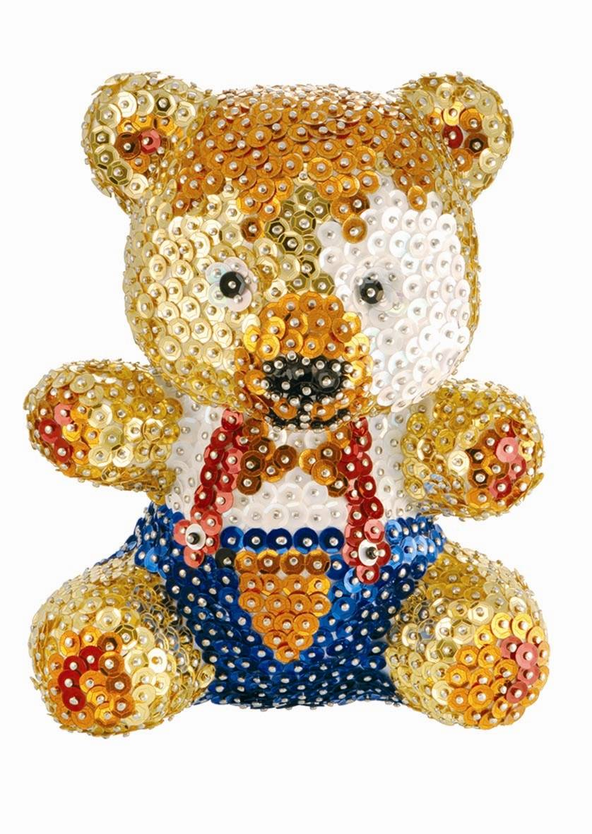 ART 3D Sequin Art, Orsetto Teddy. 0502