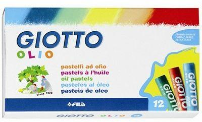 Pastelli a olio Giotto Olio Maxi. Scatola 12 colori assortiti