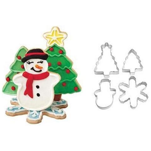 Set 4 Tagliapasta Natale In Metallo
