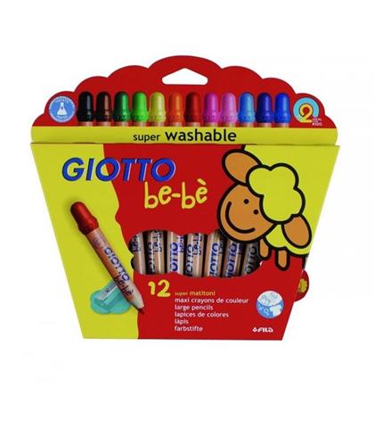 Pastelli Supermatitoni Giotto be-bè. Astuccio 12 matite colorate assortite