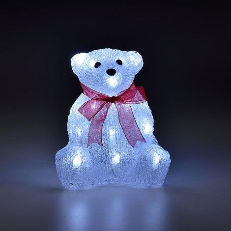 LED Orso Polare 2cm decorazione natalizia illuminazione acrilico figura illuminata piccola Natale