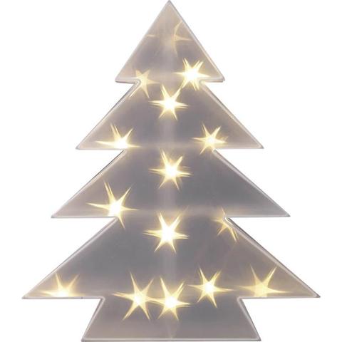 Decorazione di Natale LED Albero di natale Bianco caldo LED Polarlite LDE-04-001 Trasparente