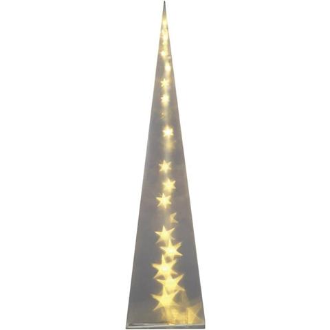 Decorazione di Natale LED Piramide Bianco caldo LED Polarlite PDE-04-002 Trasparente