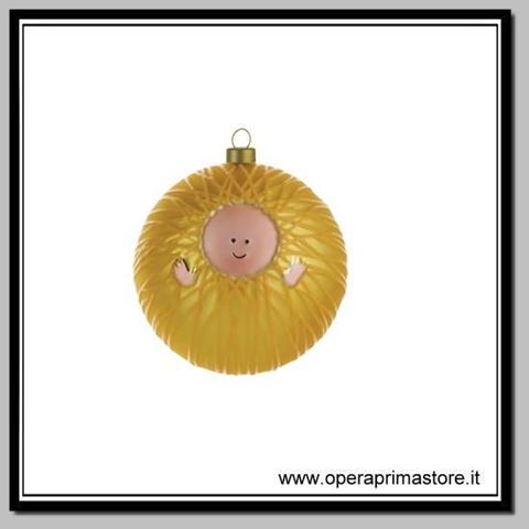 Palla Albero Di Natale Vetro Soffiato Gesù Bambino Decorata A Mano Alessi