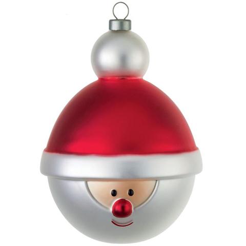 """Palla di Natale in vetro soffiato """"Babbonatale"""" con magnete in omaggio"""
