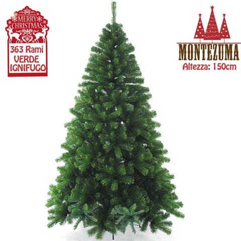Albero Di Natale New Montezuma Verde 150 Cm Base Croce Metallo