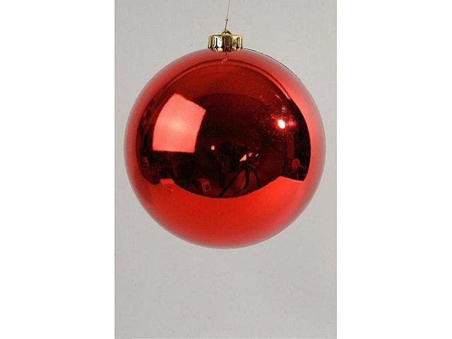 Pallina Di Natale 20Cm Rosso Lucido Decoro Addobbi Albero