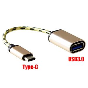 Adattatore Otg Convertitore Da Usb 3.0 A Usb Tipo C Gold Macbook Smartphone