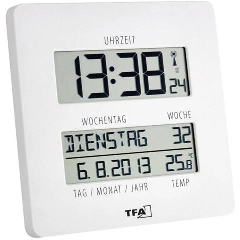 TFA 60.4509.02 Radiocontrollato Orologio da parete 27 mm x 195 mm x 195 mm Bianco