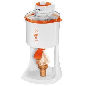 Clatronic ICM 3594 Gelatiera per soft 1 L Arancione, Bianco 18 W
