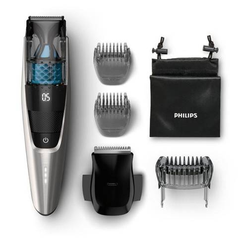 Philips BEARDTRIMMER Series 7000 Regolabarba con sistema aspirante BT7220/15