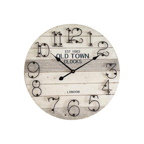 Orologio da Muro Grigio Stile Moderno Metallo Legno London
