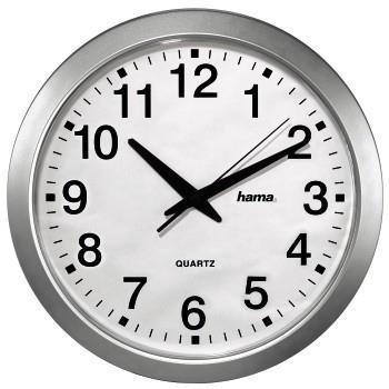 Orologio a muro Argento, Bianco Hama