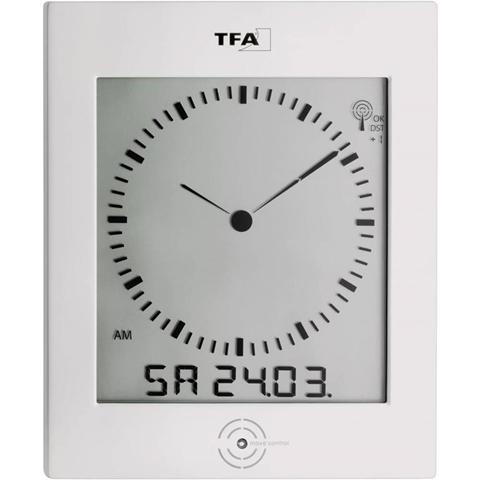 TFA 60.4506 Radiocontrollato Orologio da parete 220 mm x 265 mm x 31 mm Argento