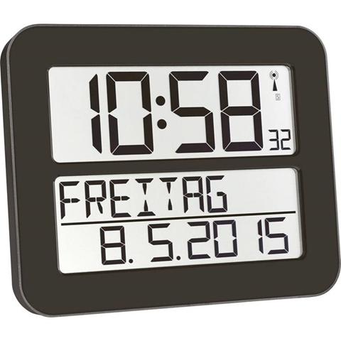 TFA 60.4512.01 Radiocontrollato Orologio da parete 258 mm x 212 mm x 30 mm Nero