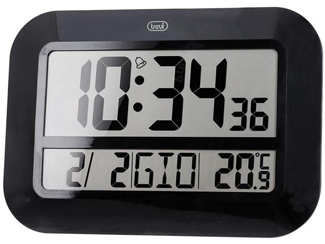 Orologio Digitale da parete Radiocontrollato TREVI OM 3540 D Nero