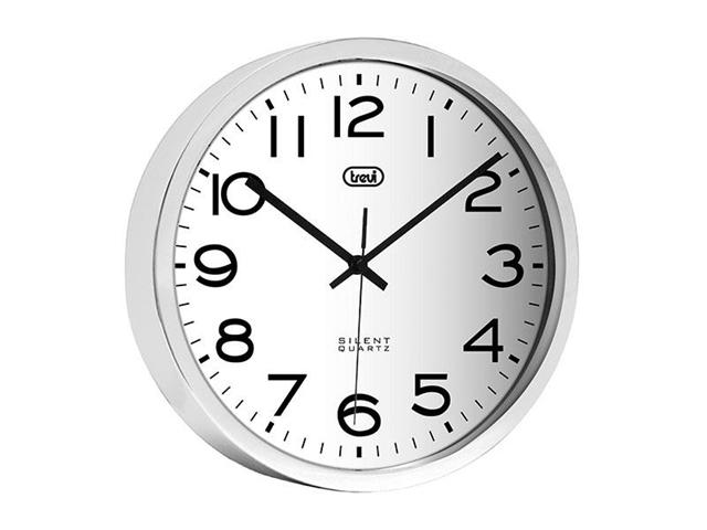 Orologio da parete in acciaio 30 cm Trevi OM 3318 S Silver