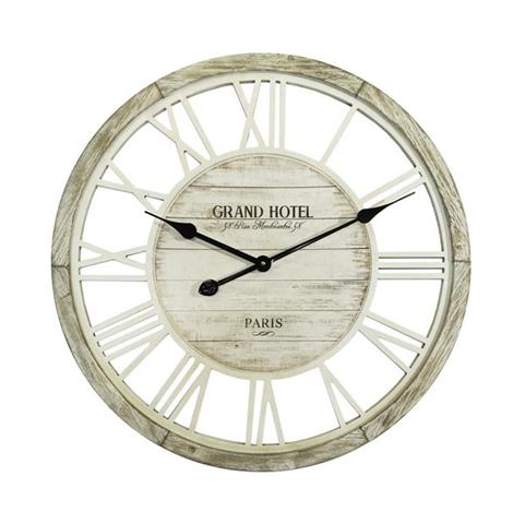 Orologio da Parete Orologi Shabby Vintage Legno Arredo Bianco