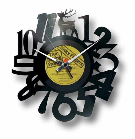 Orologio da muro con disco in vinile NUMBERS #1