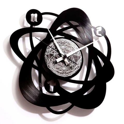 Orologio da muro con disco in vinile ATOMIUM