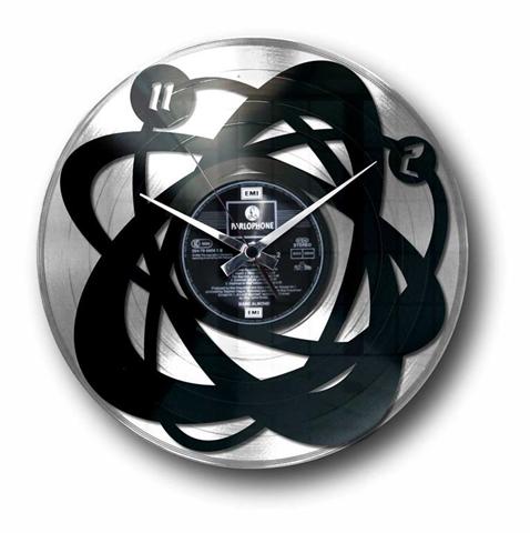 Orologio da muro in vinile con disco argento ATOMIUM