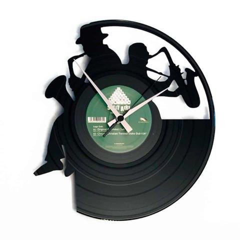 Orologio da muro con disco in vinile SAX
