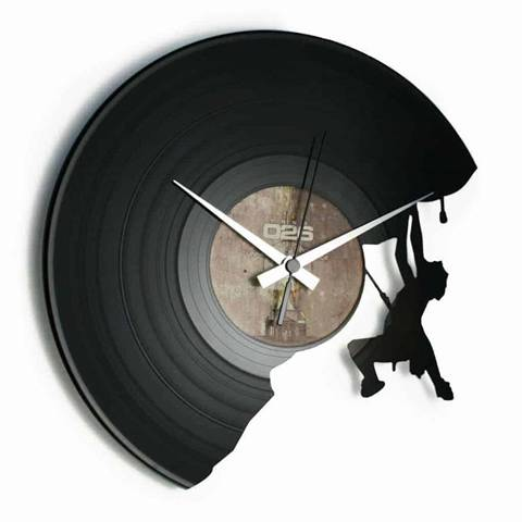 Orologio da muro con disco in vinile THE CLIMBER