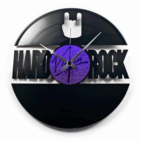 Orologio da muro con disco in vinile HARD ROCK