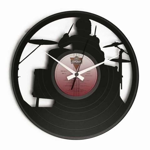 Orologio da muro con disco in vinile THE DRUMMER