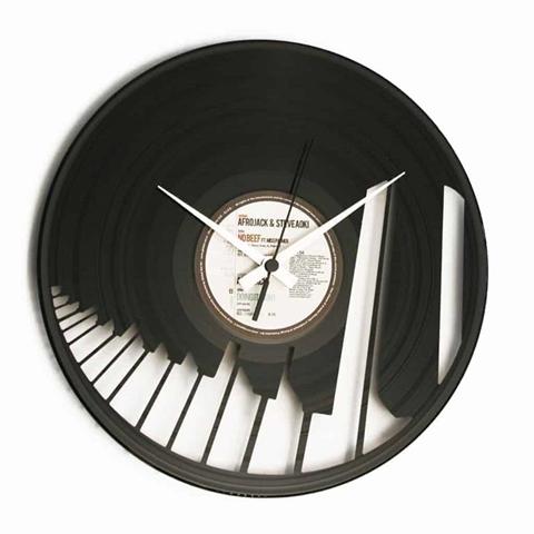 Orologio da muro con disco in vinile ABBIAMO UN PIANO