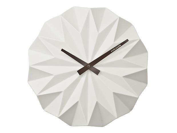 Karlsson Origami Orologio da parete in quarzo Altro Bianco