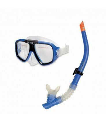 Set Maschera Con Boccaglio Per Bambini E Adulti Reef Rider 8+ Intex 55948 Piscina Mare Spiaggia