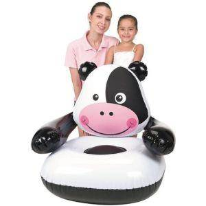 Poltrona Gonfiabile Mucca Per Bambini 80x80x71 Cm Bestway 75025