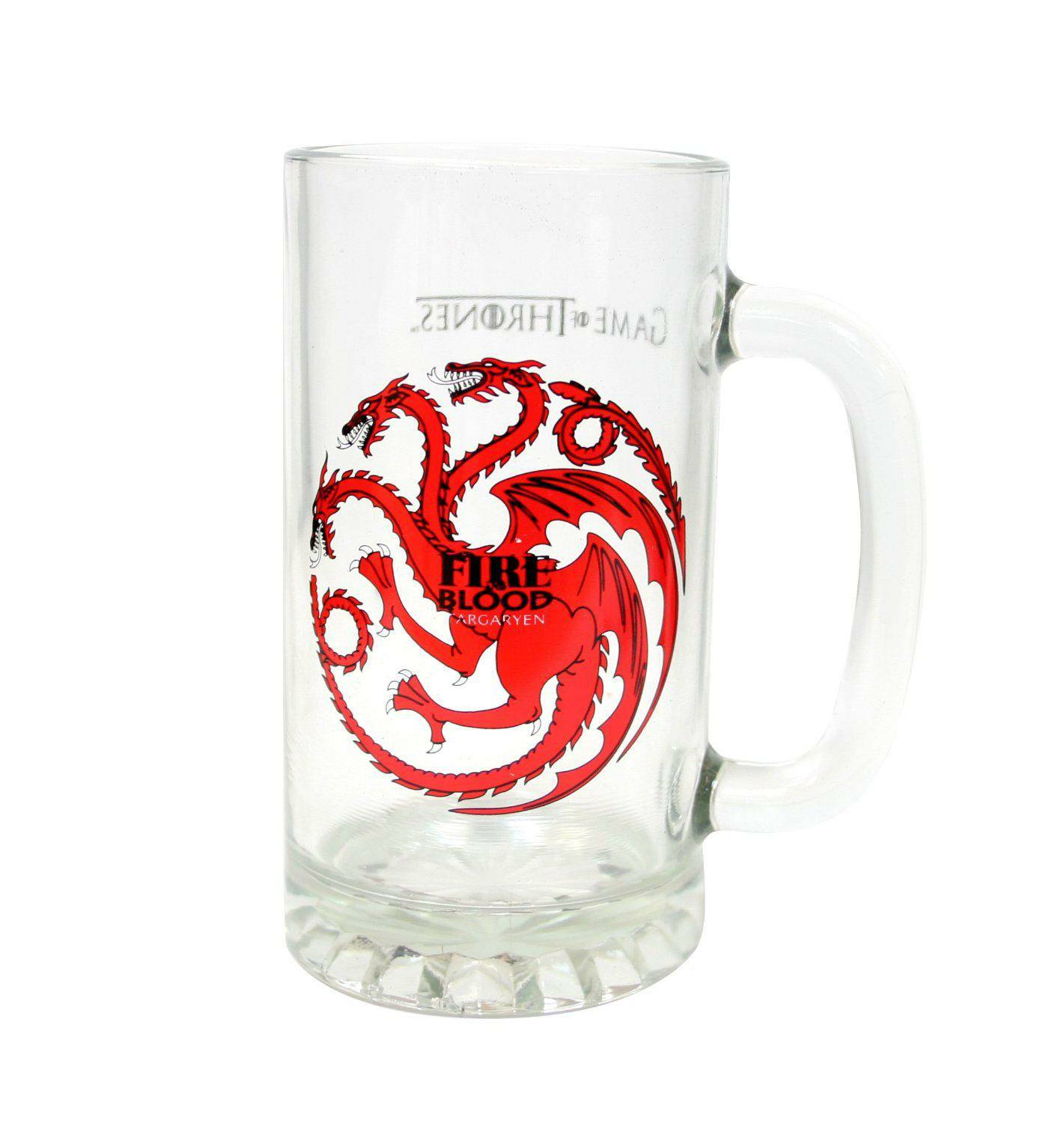 Game of Thrones Beer Glass Targaryen