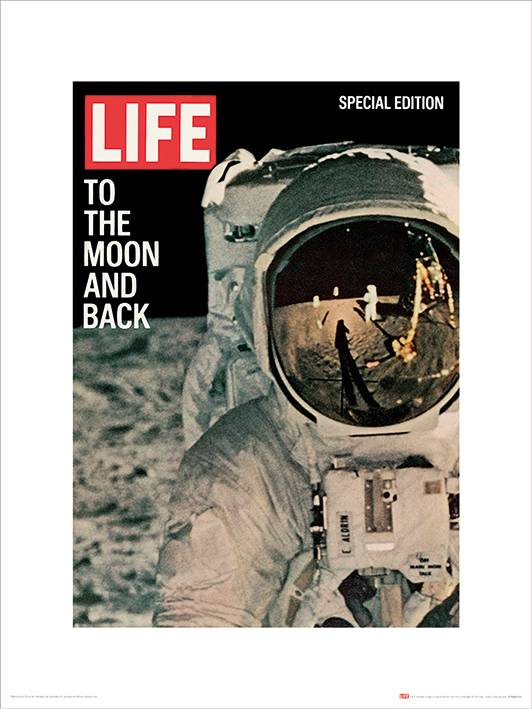 Stampa 30X40 Time Life Life Cover. To The Moon And Back