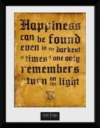 Stampa In Cornice 30x40 cm. Harry Potter. Happiness Can Be