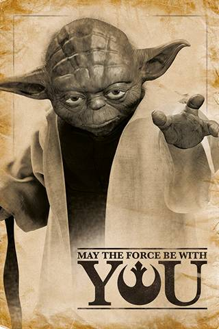 Poster Star Wars. Yoda, May The Force Be With You